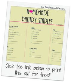 homemade recipes for mixes & condensed soups Stocking Your Kitchen With Homemade Pantry Staples :: ForRealinRealLife.com