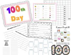 16 pages of freebies for the 100th day!