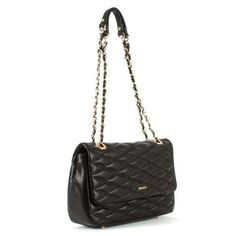 DKNY GANSEVOORT  Quilted nappa bag, Black, LTHR, New.  | eBay