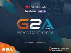 Gamescom  the world's largest gaming event coming. G2A.COM has the pleasure to invite you to the press conference which will take place on 17th August at 11:00. Anyway if you can't be there or you just prefer to track the updates from the comfort of your couch dont miss the live-stream.  Psst! Amazing prizes are waiting for you - G2A Gift Cards Dota 2 skins & CSGO skins with a total value of more than 2 000 EUR! Visit DotaPit Twitch channel: http://ift.tt/1RnQMel #G2AonTour #G2Aatgamescom…