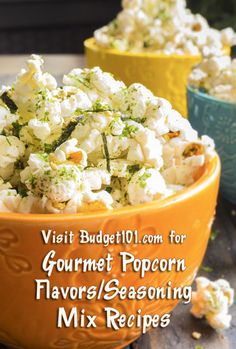 Gourmet Popcorn Mixes: Make your own Gourmet Popcorn, choose from any of these delicious Gourmet Popcorn Recipes