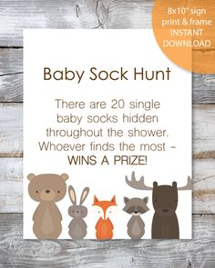 21 Printable Baby Shower Games - Super Game Pack - Woodland Watercolor Animals T., 21 Printable Baby Shower Games - Super Game Pack - Woodland Watercolor Animals T. Fiesta Baby Shower, Baby Shower Candy, Shower Bebe, Gold Baby Showers, Baby Shower Parties, Baby Boy Shower, Best Baby Shower Games, Shower Party, Themes For Baby Showers