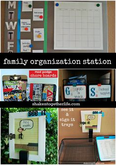 family organization station, organizing, storage ideas, Lots of great ideas for a family organization station