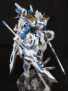MG 1/100 Blue Frame - Customized Build   Modeled by Richigobankai