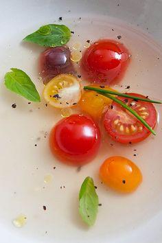 Gazpacho transparente (transparante gazpacho)