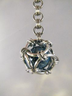 Captured Marble Chainmaille Keychain by FlutterbyKissis on Etsy  This was made by my very talented son :-)