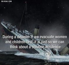 Why are women and children allowed to evacuate early?