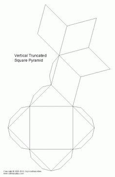 Net vertical truncated square pyramid
