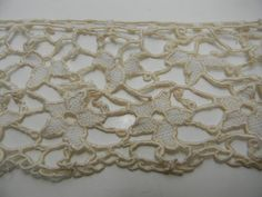 Vintage lace border 47 inches by 4 inches by FeliceSereno on Etsy,