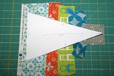 Scrappy triangle quilt tutorial