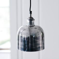 Flori Tarnished Silver Pendant Light by Rowen & Wren, the perfect gift for Explore more unique gifts in our curated marketplace. Industrial Pendant Lights, Pendant Lighting, Pendant Lamp, Ceiling Rose, Ceiling Lights, Tarnished Silver, Sterling Silver, Infused Water Bottle, Couple Jewelry