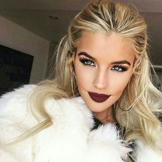 //pinterest @esib123 / #makeup dark lipstick