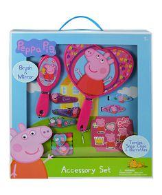 2PK Peppa Pig Girls Show Bag Skirt//Tea Set//Cooler Bag//Clip//Headband//Backpack 3y+
