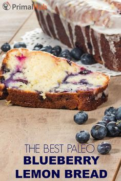 The Best Paleo Blueberry Lemon BRead #paleo #Bread #lemon #blueberry #grainfree #glutenfree #Bread