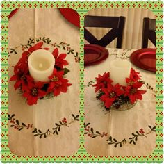 Christmas dining table center piece