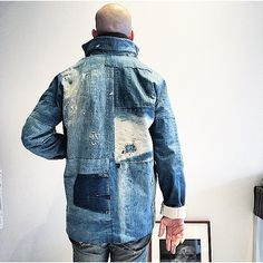 The Denim Douche Rugged Style, Denim Shirt Men, Denim Jeans, Estilo Denim, Denim Art, Vintage Denim, Fashion Details, Fashion Design, Denim Fashion