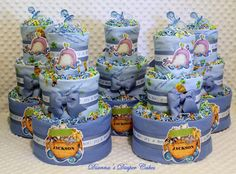Baby Diaper Cakes Noah's Ark Custom Order by Diannasdiapercakes, $160.00