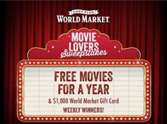 World Market's Movie Lovers Sweepstakes