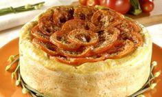 Torta de abobrinha e tomate