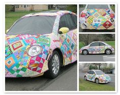Quilt for a Car! - Quite possibly the coolest quilting project EVER;  photo by  Mary1602, via Flickr