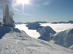 Inversion. Taken from the top of the Polar Peak chair at Fernie Alpine ski resort in British Columbia.