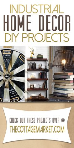 Do you love the new wave of Industrial Home Decor? If the answer is yes...it is time to check out our new Industrial Home Decor DIY Projects! They are fab!