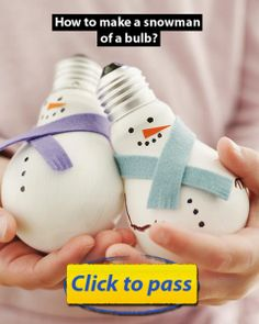 Hand-made articles from bulbs: Snowman!