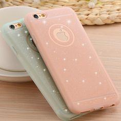 Moda molle del silicone tpu casse del telefono per iphone 5 5 s se 6 6 S Plus Ultra Sottile Polvere Glitter Back Cover Capa Fundas Pelle EC809
