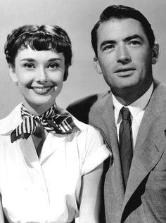 Audrey Hepburn (Princess Ann) & Gregory Peck (Joe Bradley) - Roman Holiday directed by William Wyler (1953)