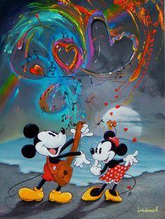 S love song by jim warren mickey mouse дисней, валентинки, иллю Walt Disney, Disney Love, Disney Pixar, Mickey Mouse Wallpaper, Disney Wallpaper, Mickey Mouse And Friends, Mickey Minnie Mouse, Jim Warren, Disney Micky Maus