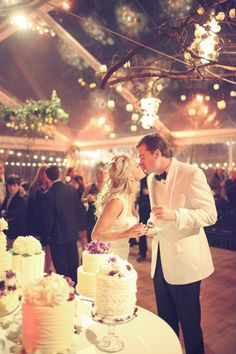 The indoor to every outdoor wedding, a clear tent. Plus, I love this photo.
