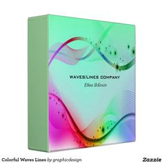 Sold #Colorful #Waves #Lines #Binder Available in different products. Check more at www.zazzle.com/graphicdesign