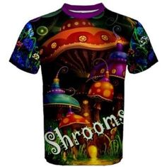 Iprints Psychedelic Trippy LSD Shrooms Jellyfish Mens Tank Top T-Shirt