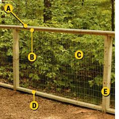 DIY garden fencing (a Home Depot tutorial). I decided to fence my yard, not the whole thing. Fence is purely to keep the rabbits out (there are hundreds of them in the neighborhood) Backyard Fences, Garden Fencing, Lawn And Garden, Fence Landscaping, Farm Fencing, Outdoor Fencing, Horse Fencing, Wood Fences, Privacy Fences