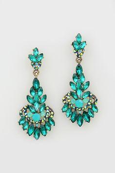Illume Earrings in Emerald esse brilho,iluminosidade intensa é da Paraiba tourmaline(?:)