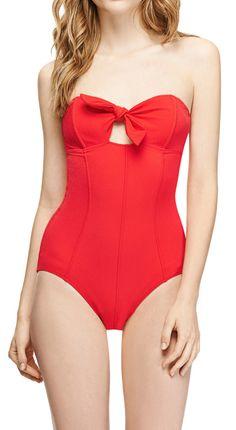 Poppy Bandeau Swimsuit / LISA MARIE FERNANDEZ
