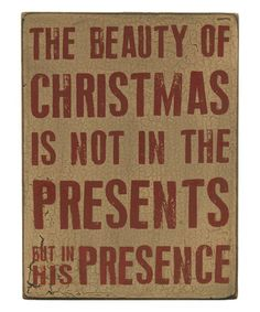 Look what I found on #zulily! 'Beauty of Christmas' Box Sign #zulilyfinds
