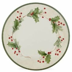 Amazon.com: Lenox Holiday Gatherings Berry Dinner Plate: Kitchen & Dining