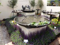 Stunning birdbaths by WIllie Wildlife Sculptures at RHS Chelsea Flower Show 2013