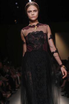 British Supermodel Cara Delevingne for Valentino-PFW/RTW/SS14