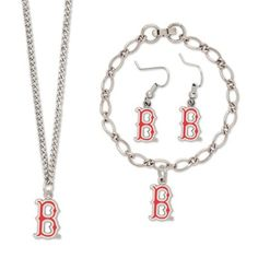 Boston Red Sox Ladies Silvertone Jewelry Gift Set    $24.95