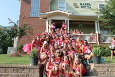 The confident ladies of Kappa Delta at UTC -Bid Day 2014