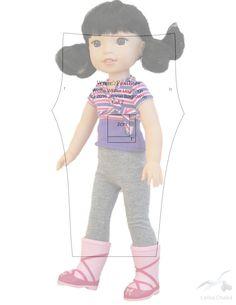 Альбом №4 Выкройки для куклы Паола- Рейна. – 32 фотографии