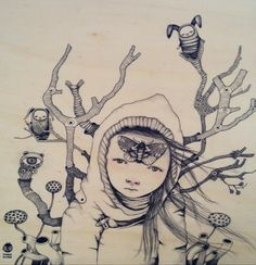 Saatchi+Online+Artist+ivana+flores%3B+Drawing%2C+%22ch%C3%B4ko%22+%23art