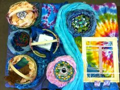 Dyeing, Felting, Sewing, Spinning, Weaving, Sprang, Lucet, Kumihimo, Glasswork, Basketweaving, Knitting, Crocheting by the Tan Family at the Griffin Dyeworks Annual Dye and Fiber Retreat - Castaic, CA
