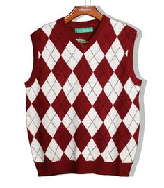 Black/Red Argyle Sweater Vests for Men www.yookstore.com ...