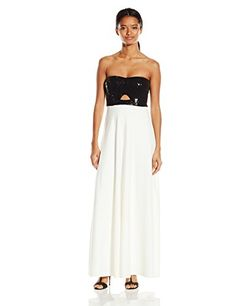 Jump Juniors Strapless Crepe and Sequin Long Prom Dress BlackWhite 5 * Be sure to check out this awesome product. (This is an affiliate link and I receive a commission for the sales)
