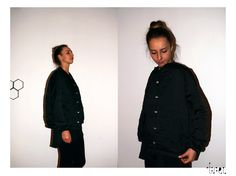 Quilted beaded bomber. Roxana Benea for Trei. Model : Teo R. endless-reflection.tumblr.com