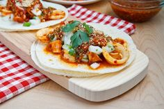 Calamari Tacos with Salsa Naranja