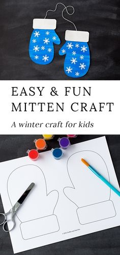 winter kids crafts Winter is the perfect season for mitten crafts! Toddlers, preschoolers, and kindergartners will enjoy using our printable template, washable paint, and basic craft supplies to create a fun and colorful mitten craft at home or school. Kids Crafts, Daycare Crafts, Winter Crafts For Kids, Winter Kids, Craft Kids, Winter Preschool Crafts Toddlers, Family Crafts, Snowman Crafts For Preschoolers, At Home Crafts For Kids